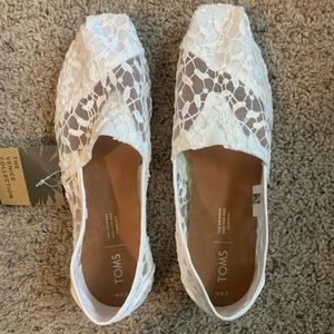 Toms White Lace Leaves